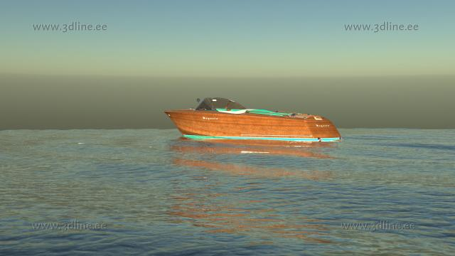 riva aquarama 3d model rendering